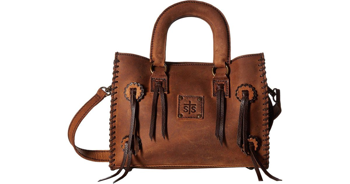 Lyst Sts Ranchwear Small Chaps Satchel Brown Handbags In