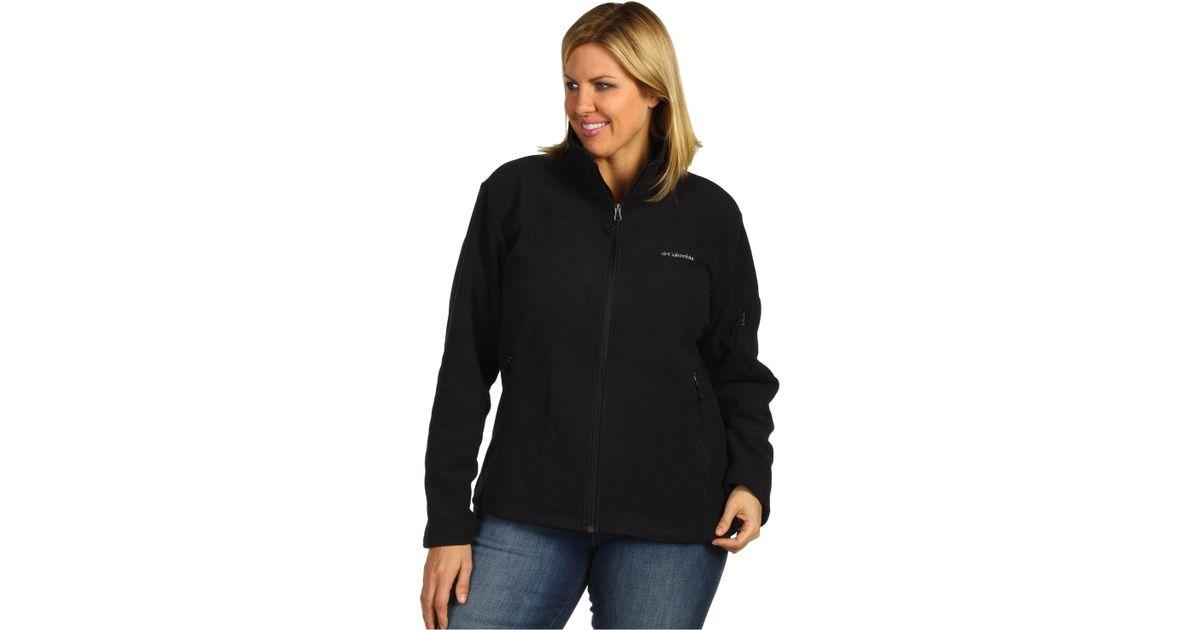 740e9a598f9 Lyst - Columbia Plus Size Fast Trektm Ii Full Zip Fleece Jacket (charcoal  Heather) Women s Coat in Black