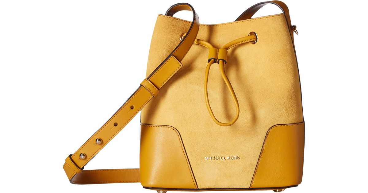 8a68ff79ed96 Lyst - MICHAEL Michael Kors Cary Small Bucket Bag in Yellow