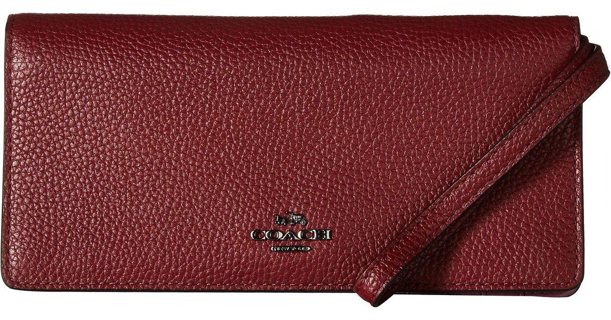 c8aefd3e0e4c Lyst - COACH Slim Wallet In Color Block Leather (dk wine Multi) Wallet  Handbags