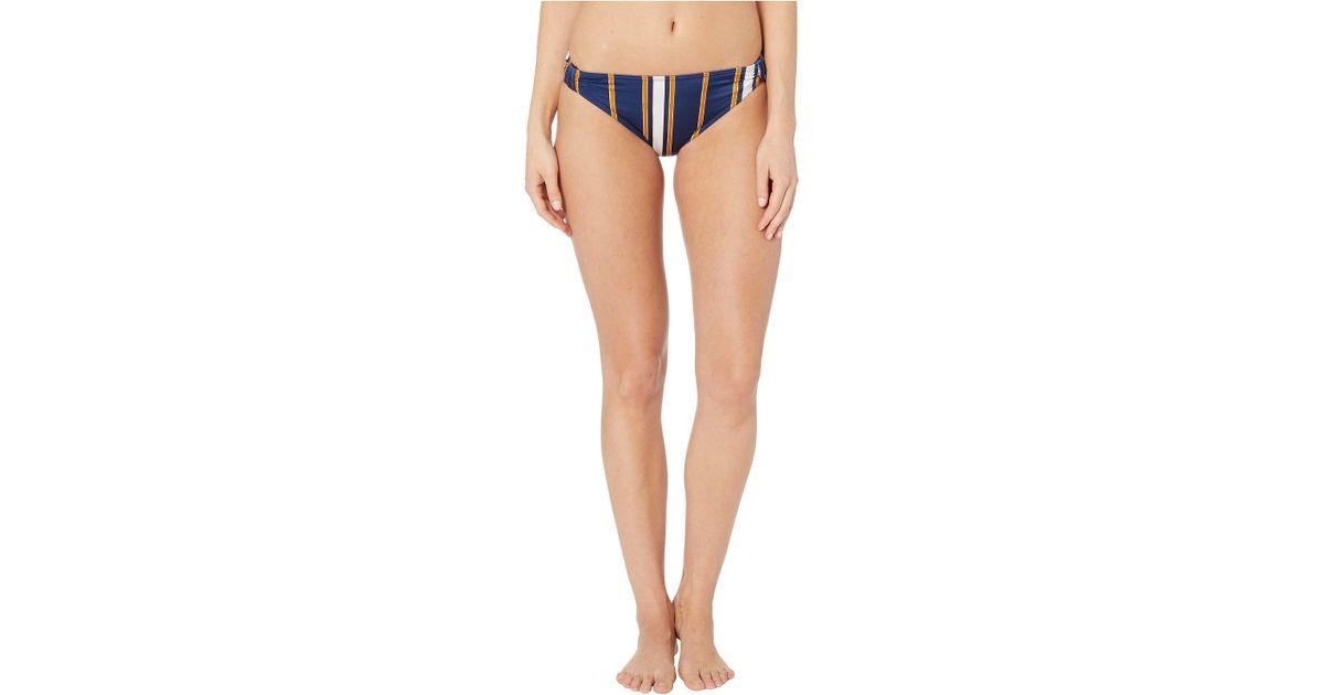 2deeff6fd24 Roxy Romantic Senses Full Coverage Bikini Bottoms (medieval Blue Macy  Stripe Swim) Swimwear in Blue - Save 46% - Lyst