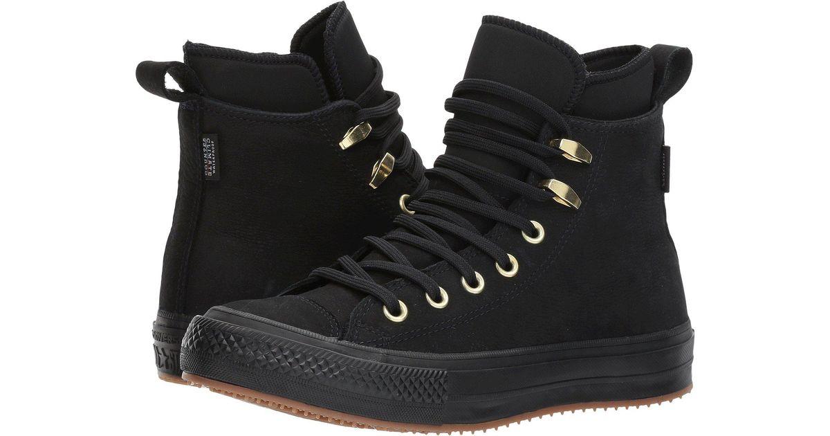 02d3262965 Lyst - Converse Chuck Taylor® All Star® Waterproof Boot Nubuck Hi in Black