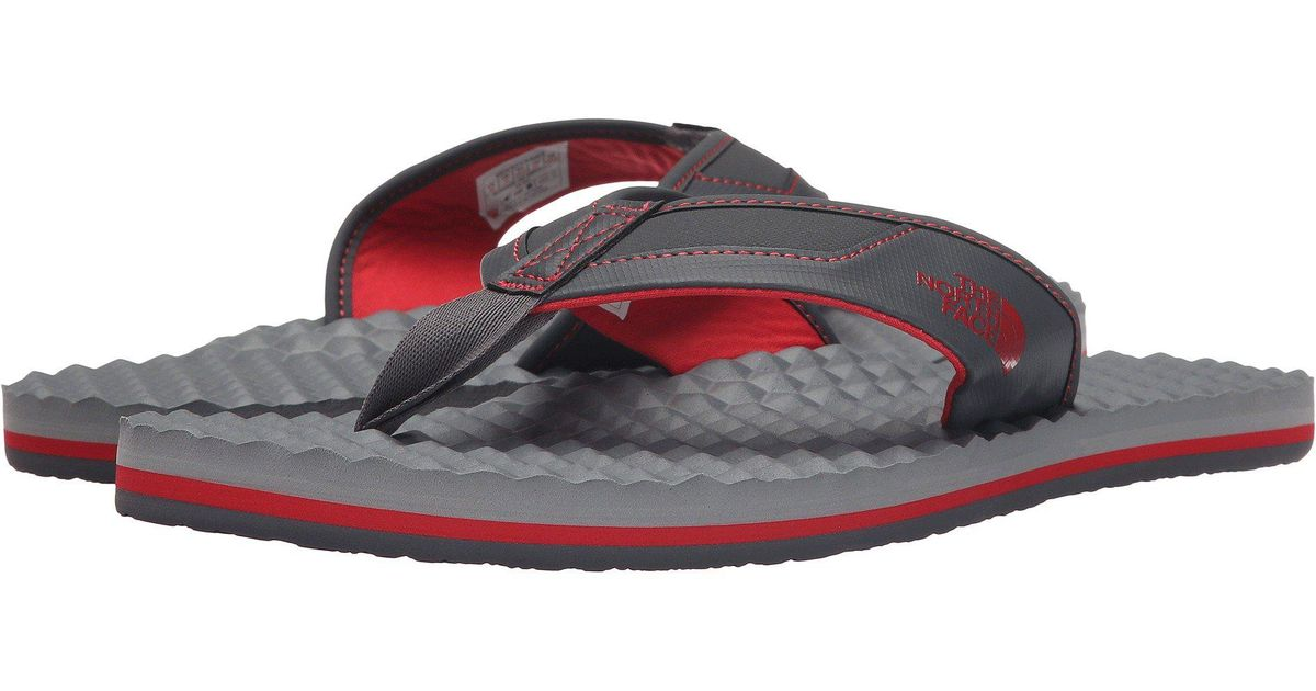 c490ec113bf Lyst - The North Face Base Camp Plus Flip Flop in Gray for Men