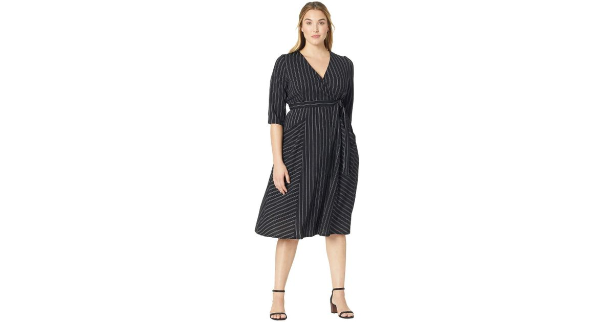 Lyst Kiyonna Harmony Faux Wrap Dress In Black Save 574468085106383