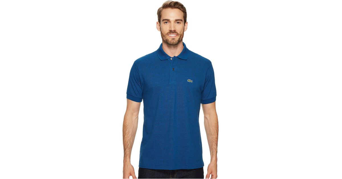 0c866e8dc Lyst - Lacoste Short Sleeve Classic Fit Chine Pique Polo Shirt in Blue for  Men