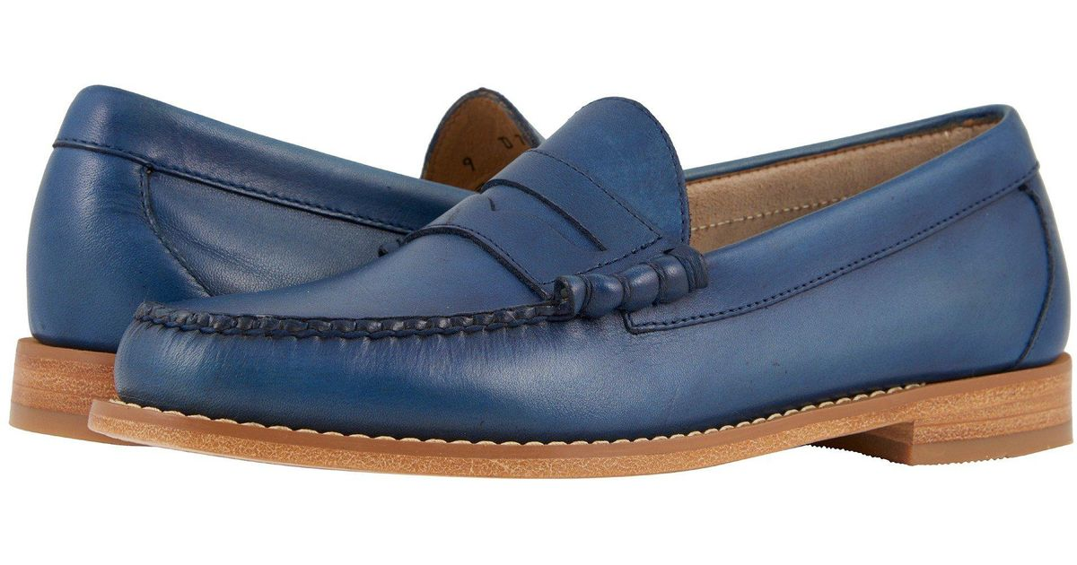 6433a7a1726 Lyst - G.H.BASS Larson Weejuns (vachetta Hand Finished Full Grain) Men s  Shoes in Blue for Men