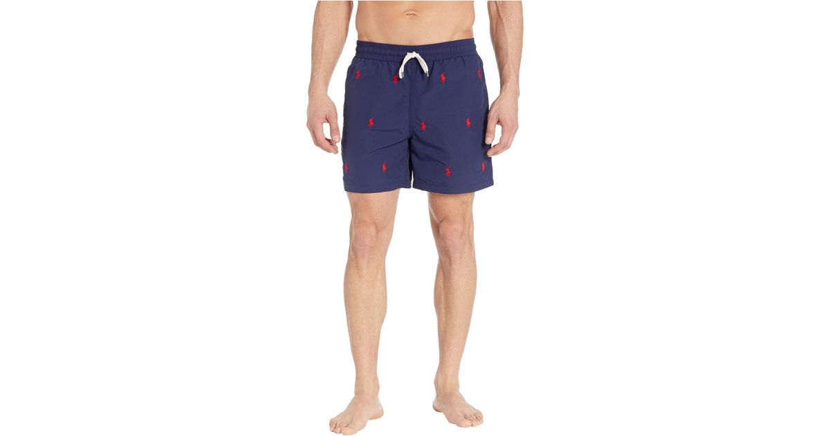 aa5f500d6f Lyst - Polo Ralph Lauren Traveler Swim Trunks (newport Navy/aoe) Men's  Swimwear in Blue for Men