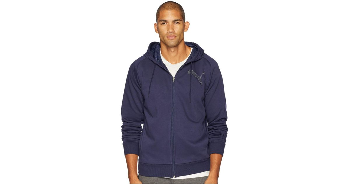 e08a85bbc1ab Lyst - PUMA P48 Modern Sport Full Zip Fleece Hoodie in Blue for Men