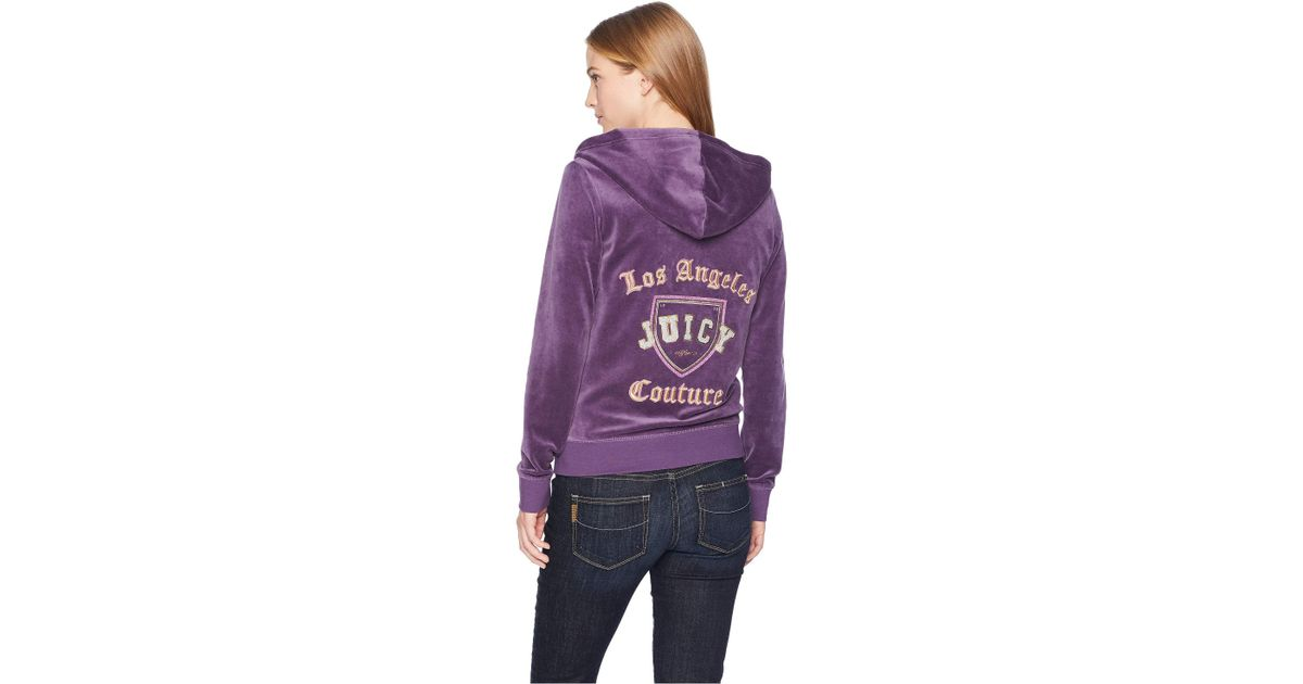 4ad2549f Juicy Couture Track Velour Home Team Robertson Jacket (top Hat) Women's  Jacket in Purple - Lyst