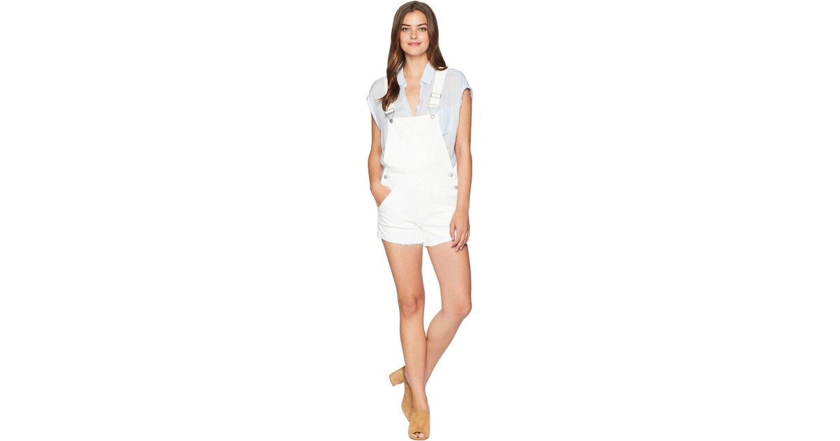 144f958d0c52 Joe's Jeans Short Overalls In Nicky (nicky) Overalls One Piece in White -  Save 58% - Lyst
