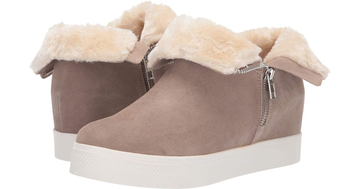 88747a5ed28 Lyst - Steve Madden Wanda Wedge Sneaker (black Suede) Women s Wedge Shoes  in Brown