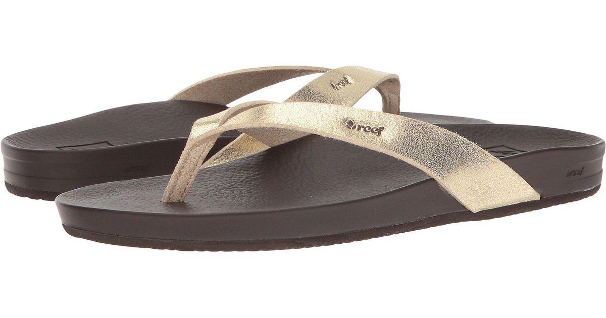 b0ce57a4a98 Lyst - Reef Cushion Bounce Court (rose Gold) Women s Sandals