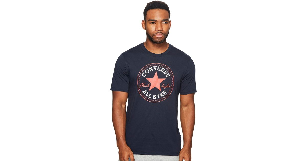 Lyst - Converse Core Chuck Patch Tee (obsidian) Men s T Shirt in Blue for  Men 39b04489d2