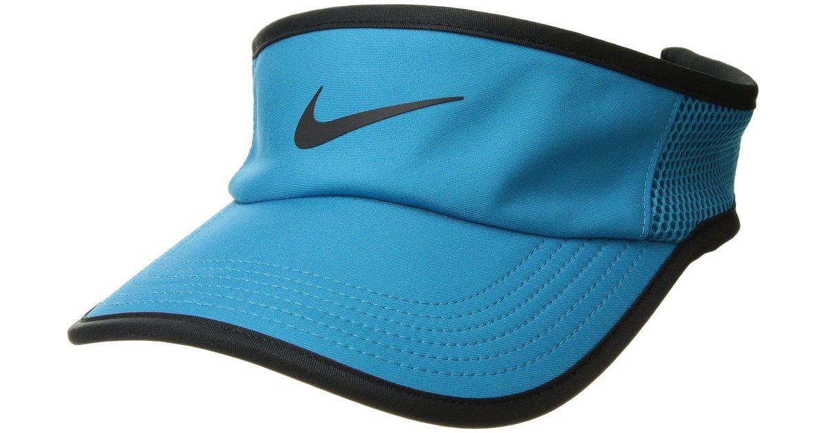 0fa72ec2d5182 Nike Aerobill Featherlight Visor in Black - Lyst