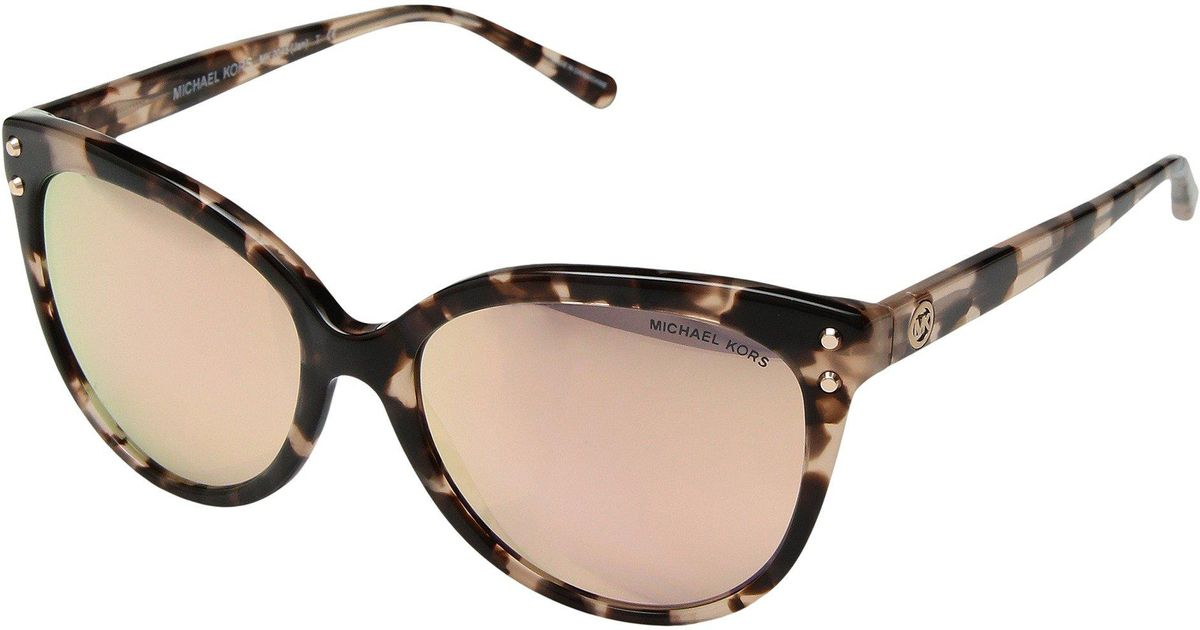 3c2d2f4cfb6c Lyst - Michael Kors 0mk2045 55mm (pink Tortoise/rose Gold Mirror Polar)  Fashion Sunglasses in Pink