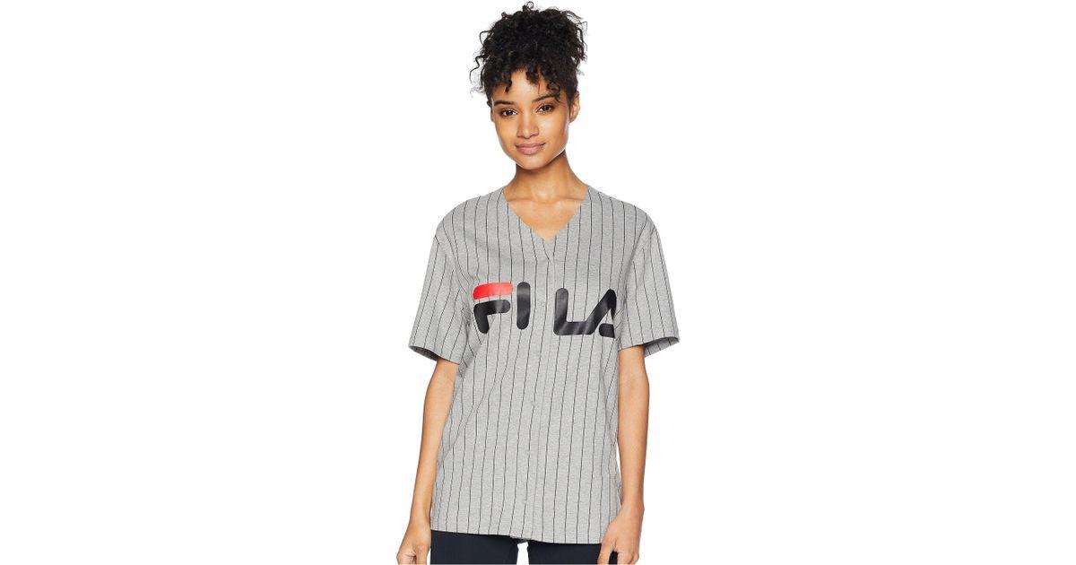 33691c500667 Lyst - Fila Lacey Baseball T-shirt in Gray