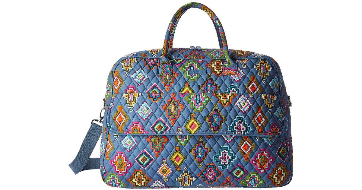 734486915410 Lyst - Vera Bradley Luggage Grand Traveler in Blue