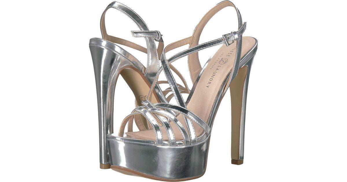 7b2b92bdde0 Lyst - Chinese Laundry Teaser (silver Mirror) High Heels