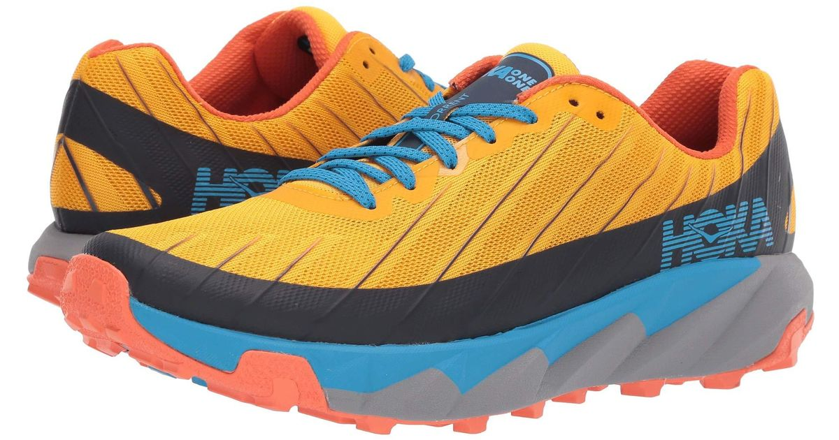 Hoka One One Multicolor Torrent (gold Fusion/dresden Blue) Men\u0027s Running  Shoes for men