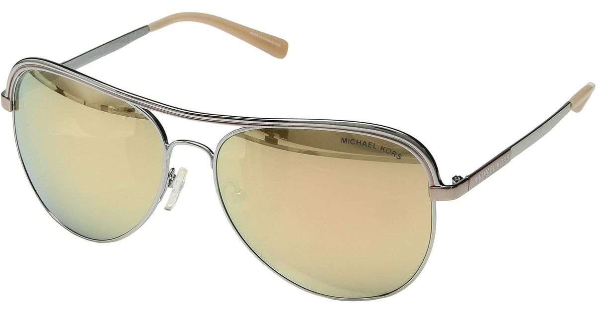 b59be0fa6f Lyst - Michael Kors 0mk1012 (shiny Silver new Liquid Rose Gold) Fashion  Sunglasses in Metallic
