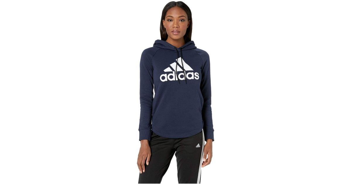 ad78924cb6657 Lyst - adidas Must Have Hoodie (medium Grey Heather black) Women s  Sweatshirt in Blue