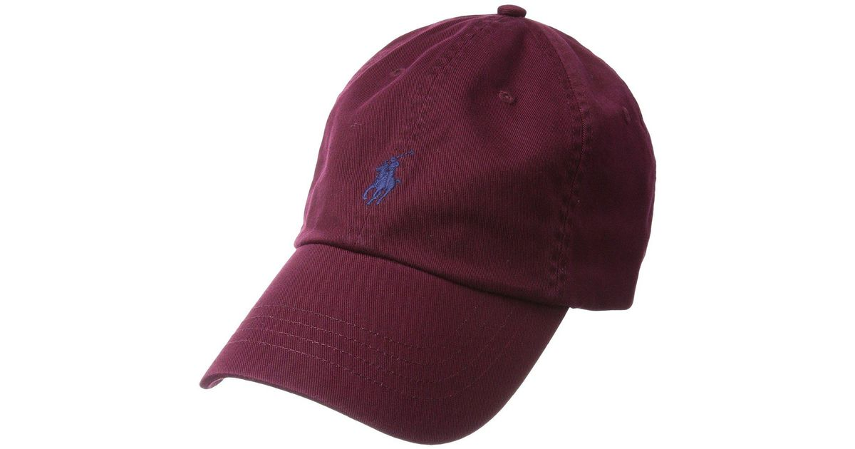 Lyst - Polo Ralph Lauren Classic Sport Cotton Chino Hat (classic Wine) Caps  in Red for Men 690d281ad52