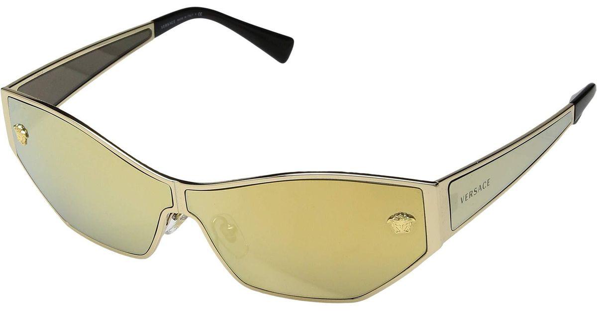 2711c19195 Lyst - Versace Ve2205 (gold brown Mirror gold) Fashion Sunglasses in  Metallic