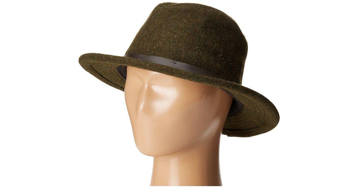 b9ec626a5 Filson Wool Packer Hat (forest Green) Caps in Green for Men - Lyst