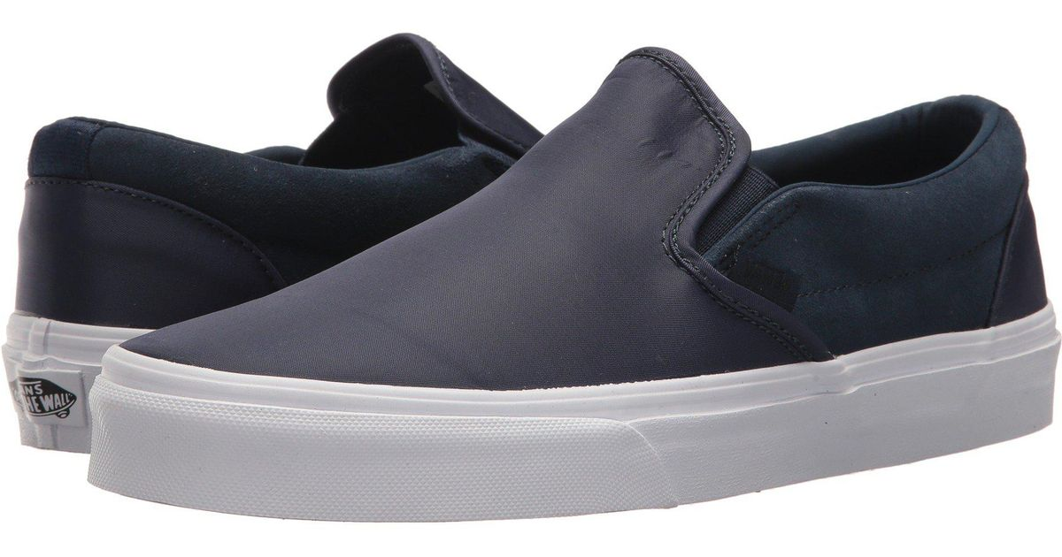 66f92c12b60c Lyst - Vans Classic Slip-ontm ((embossed Suede) Sequoia true White) Skate  Shoes in Blue for Men