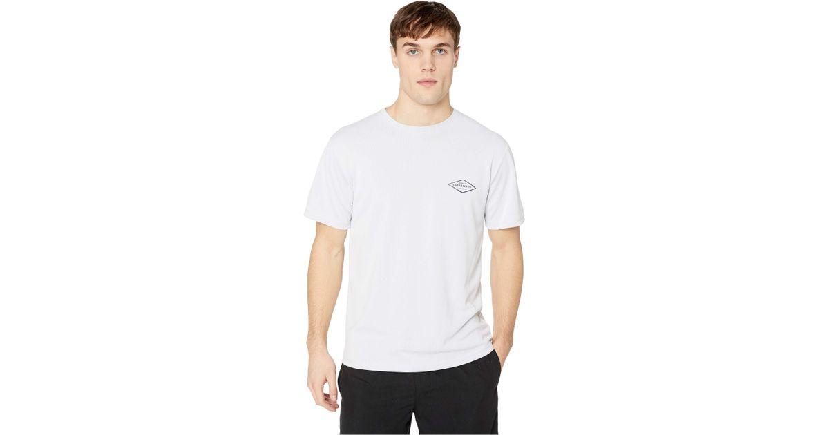 60bc55edc5401 Lyst - Quiksilver Gut Check Short Sleeve (white) Men s Swimwear in White  for Men