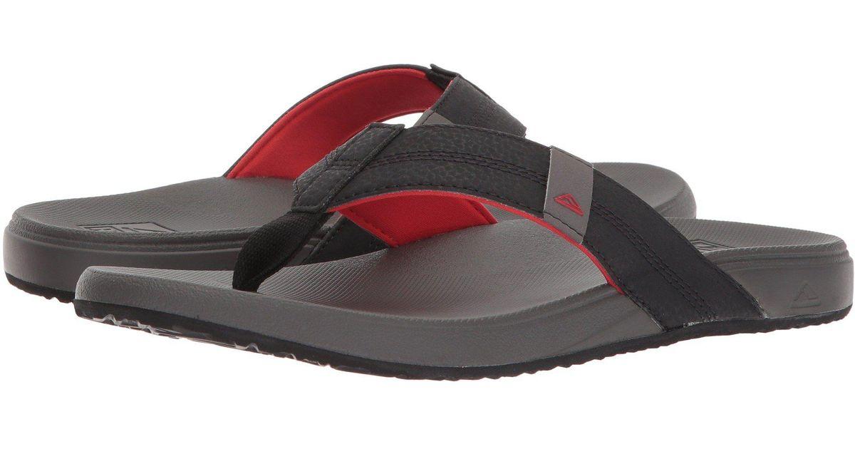 Reef Gray Cushion Bounce Phantom Navy Black Men S Sandals For Men Lyst