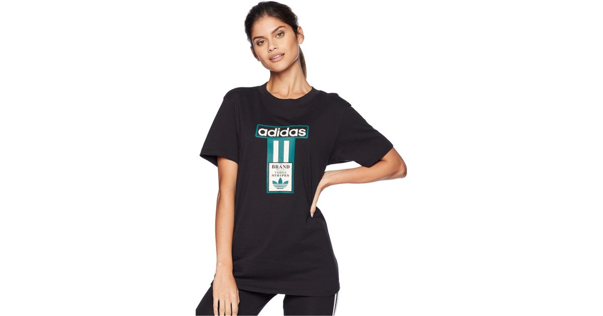 417983850bb7 adidas Originals Adibreak Logo Tee (black) Women's T Shirt in Black - Lyst