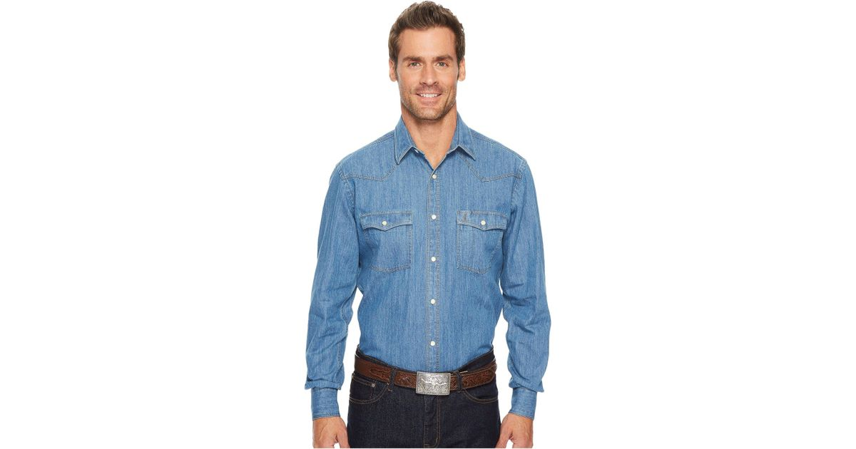 06de6e6b Lucchese El Paso (denim) Long Sleeve Button Up in Blue for Men - Save 1% -  Lyst