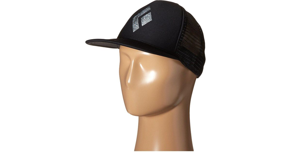 16ceefec30ca3 Black Diamond Flat Bill Trucker Hat (black white) Caps in Green for Men -  Lyst