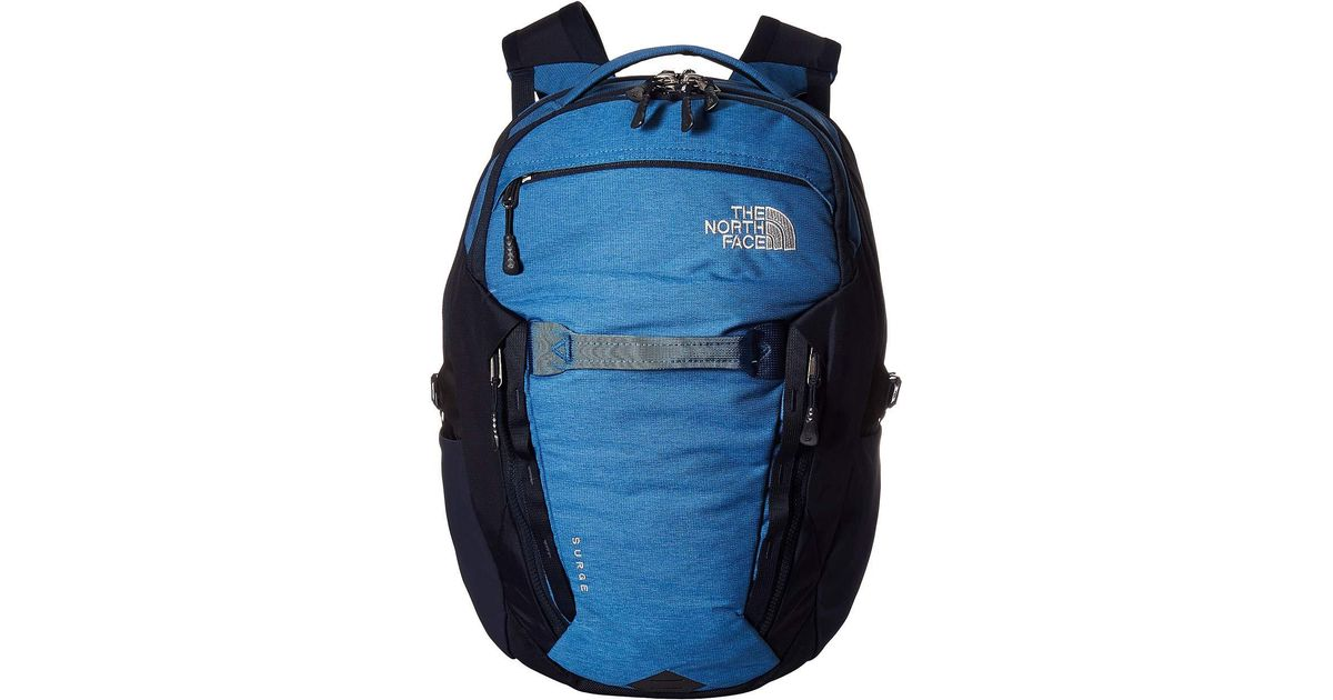 fe38d9bd15 The North Face Surge Backpack (dish Blue Light Heather/urban Navy) Backpack  Bags in Blue for Men - Lyst