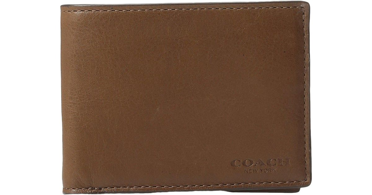 3904c1e4925d Lyst - Coach Sport Calf Slim Billfold Id Wallet (dark Saddle) Wallet  Handbags in Brown for Men