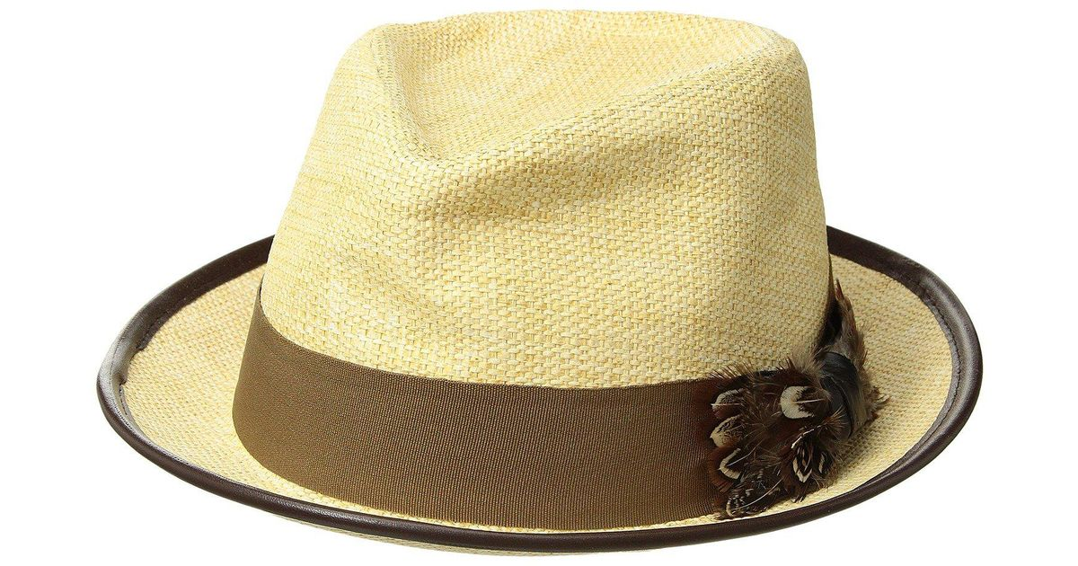 Lyst - Carlos By Carlos Santana Matte Toyo Fedora With Feather Bow  (natural) Fedora Hats in Natural b908709ba17