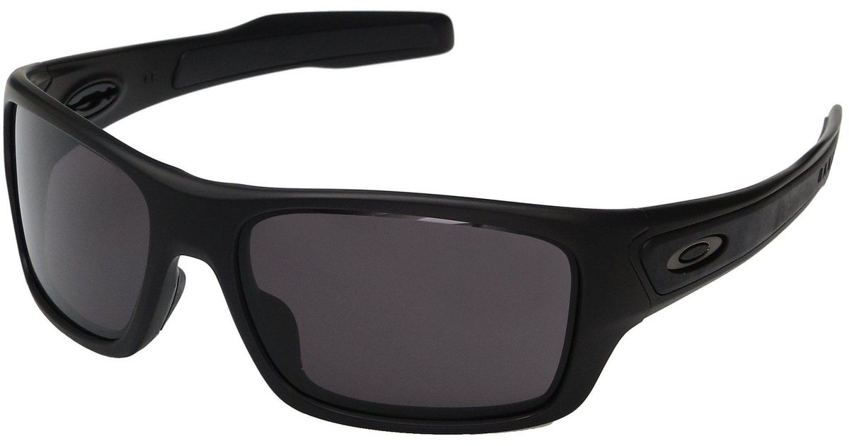 b1b7dd2c26 Lyst - Oakley Turbine Xs (polished White W  Prizm Deep Water Polarized)  Fashion Sunglasses in Black for Men
