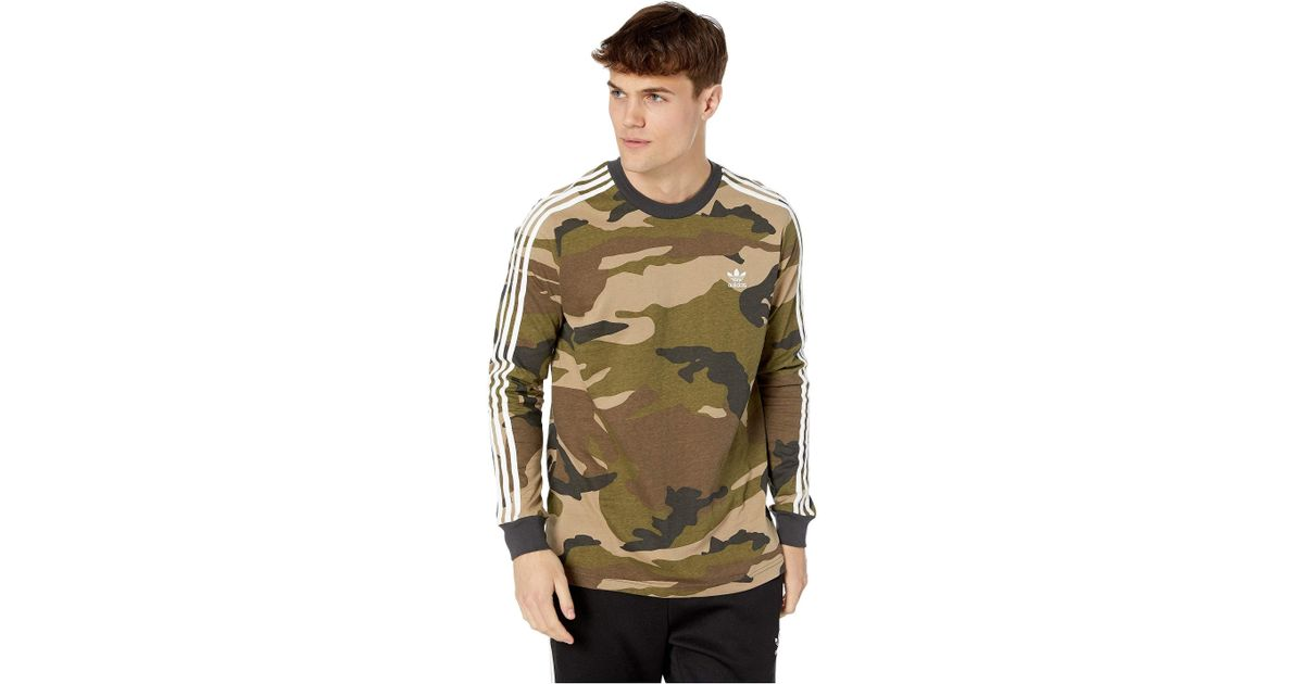 fbf2501eda23e adidas Originals Camo Long Sleeve Tee (multicolor/utility Black) Men's T Shirt  for Men - Lyst