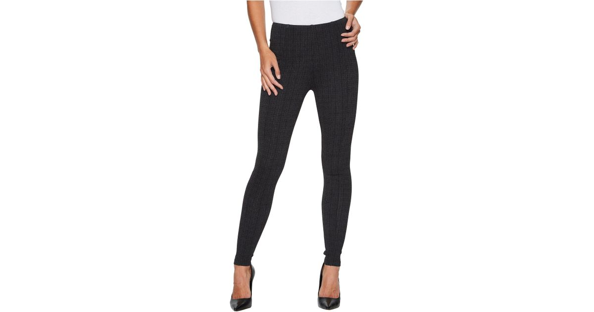 98889b6ef08ae Liverpool Jeans Company Reese Ankle Leggings With Slimming Waist Panel In  Texture Houndstooth Ponte Knit In Magnet in Black - Lyst