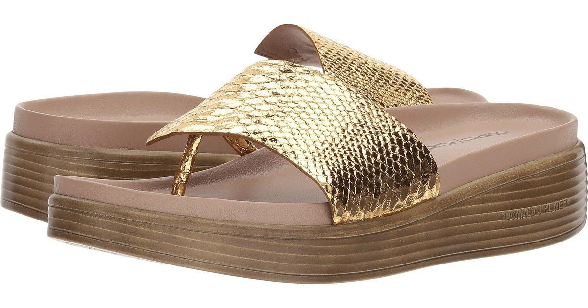 aed8a94aecac Lyst - Donald J Pliner Fifi 19 in Metallic - Save 55%