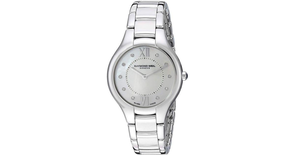 Lyst - Raymond Weil Noemia - 5132-st-00985 (silver) Watches in Metallic c2b904c3820