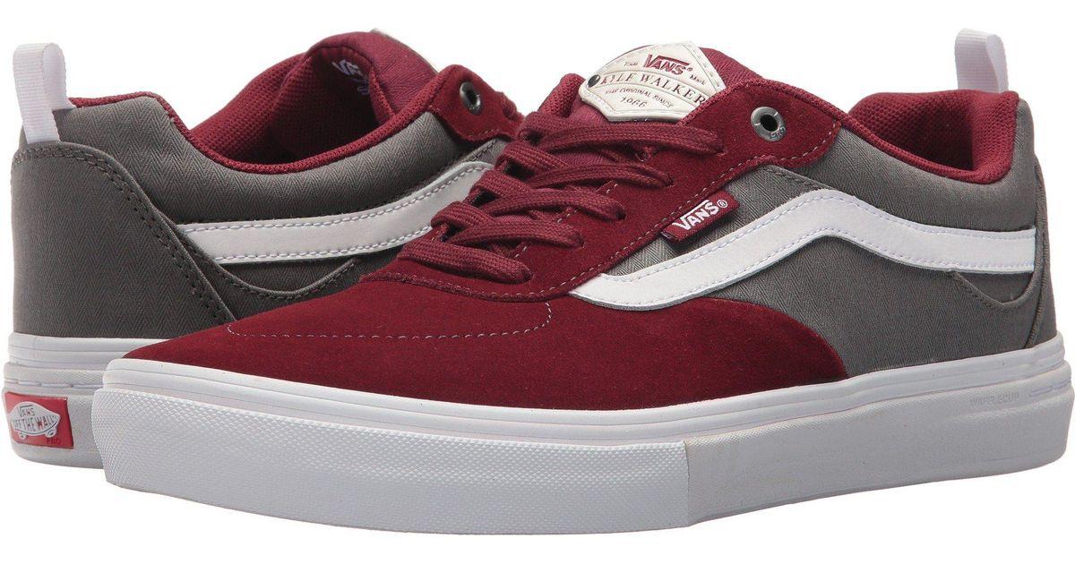 d1ec6c9f30 Lyst - Vans Kyle Walker Pro (pewter light Gum) Men s Skate Shoes in Red for  Men