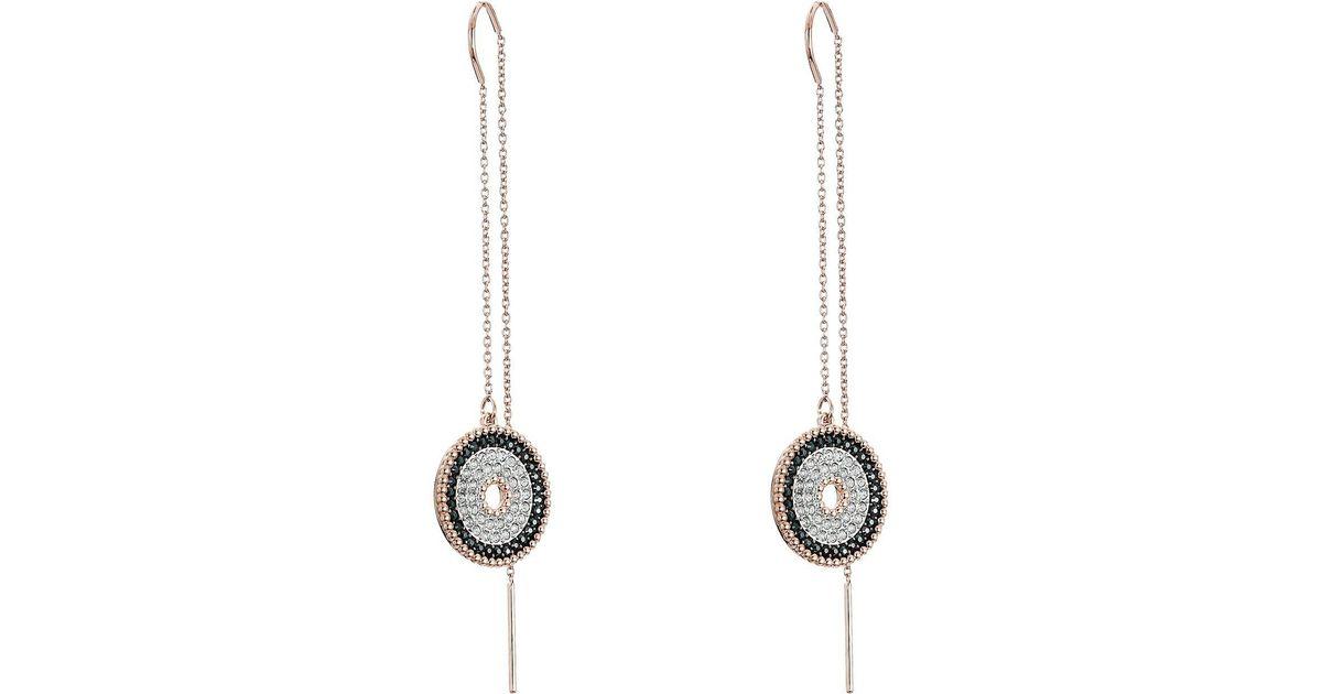 b4dec2cc0 Swarovski Lollipop Chain Pierced Earrings (white) Earring in White - Lyst