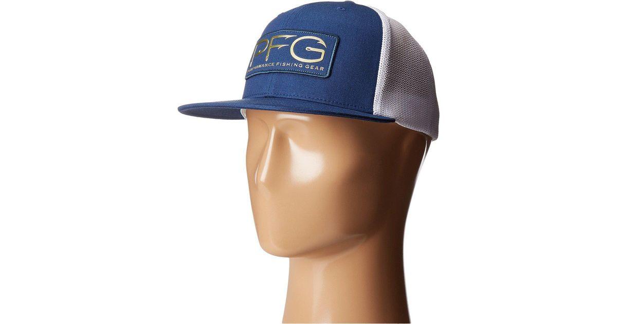 53dae09b14a Lyst - Columbia Pfg Mesh Flat Brim Ballcap (carbon pfg Hook Patch) Baseball  Caps in Blue for Men