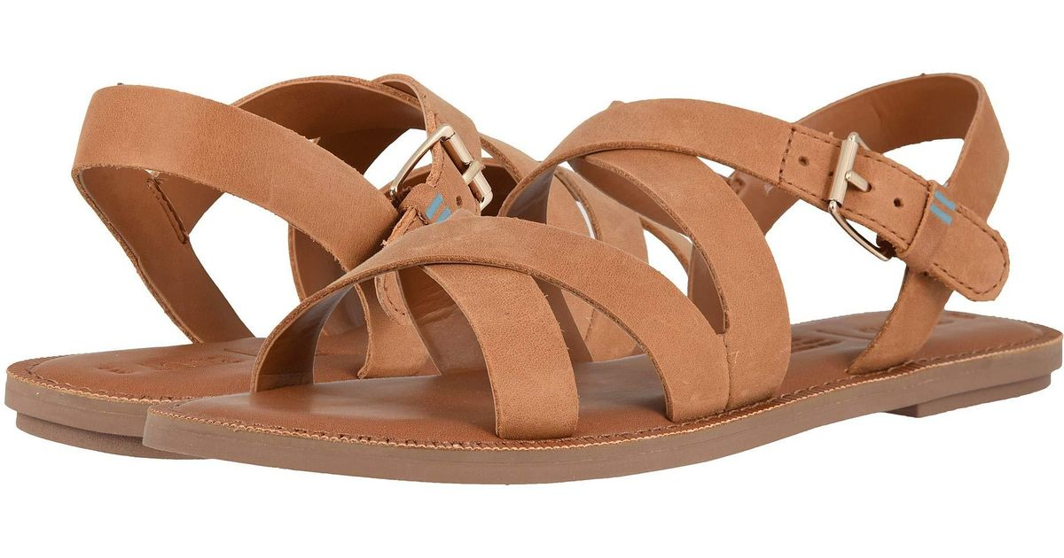 733e219f6cf Lyst - TOMS Sicily (black Leather) Women s Sandals in Brown