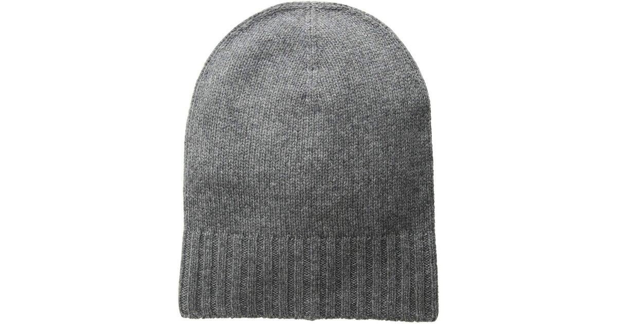 898d97db13 Lyst - Hat Attack Cashmere Slouchy cuff Hat (navy) Knit Hats in Gray