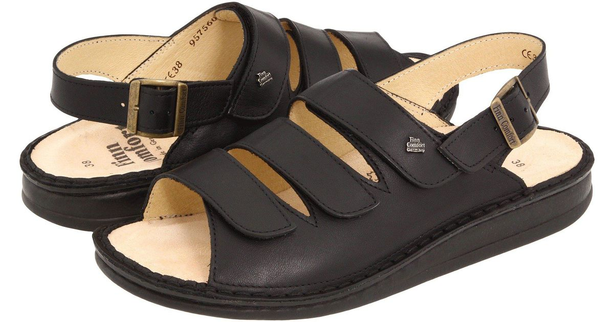 a2f431077c4c Lyst - Finn Comfort Sylt - 82509 (black Nappa Soft Footbed) Women s Shoes  in Black