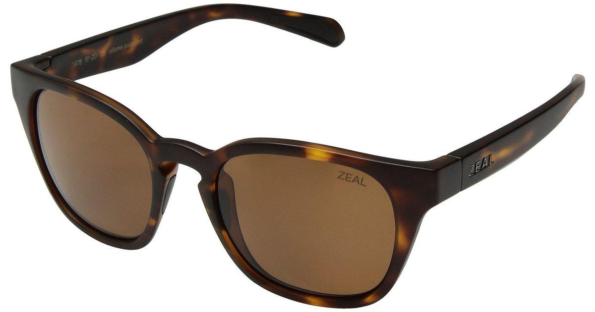 9275ac6c906 Lyst - Zeal Optics Windsor (matte Black polarized Dark Grey Lens) Athletic  Performance Sport Sunglasses in Brown
