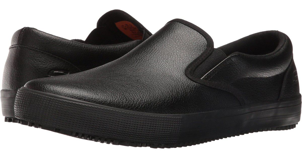 67f28ded17b Lyst - Skechers Work Alcade (black Leather pu) Men s Slip On Shoes for Men